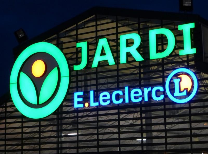 Enseigne lumineuse par leds ou n ons pub colaut for Jardi leclerc carentan